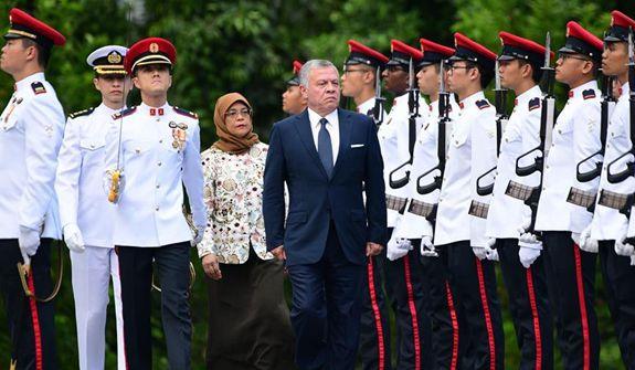 約旦國王阿卜杜拉二世訪問新加坡